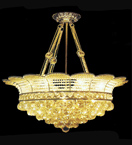 Fruit Bowl Shaped Crystal Chandelier