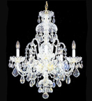 Clear Lead Crystal Chandelier