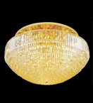Surface mounted 32 light dome crystal chandelier